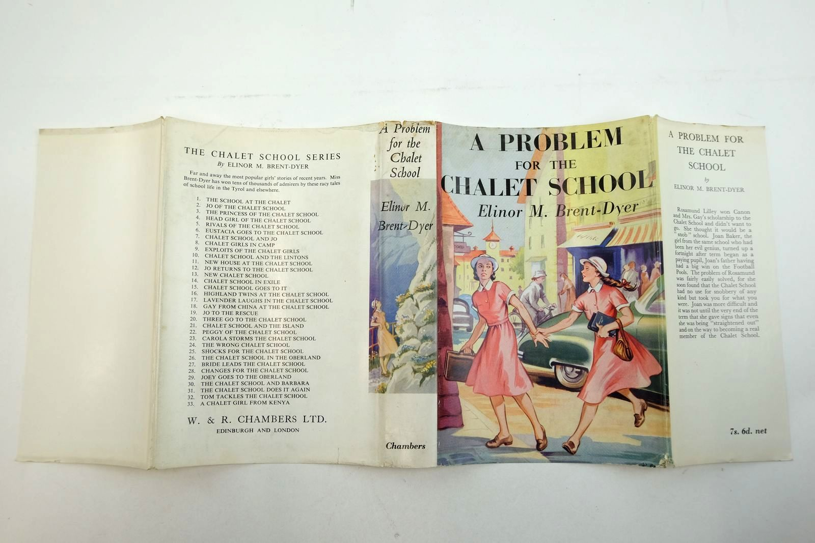 Photo of A PROBLEM FOR THE CHALET SCHOOL written by Brent-Dyer, Elinor M. illustrated by Brook, D. published by W. & R. Chambers Limited (STOCK CODE: 2135230)  for sale by Stella & Rose's Books