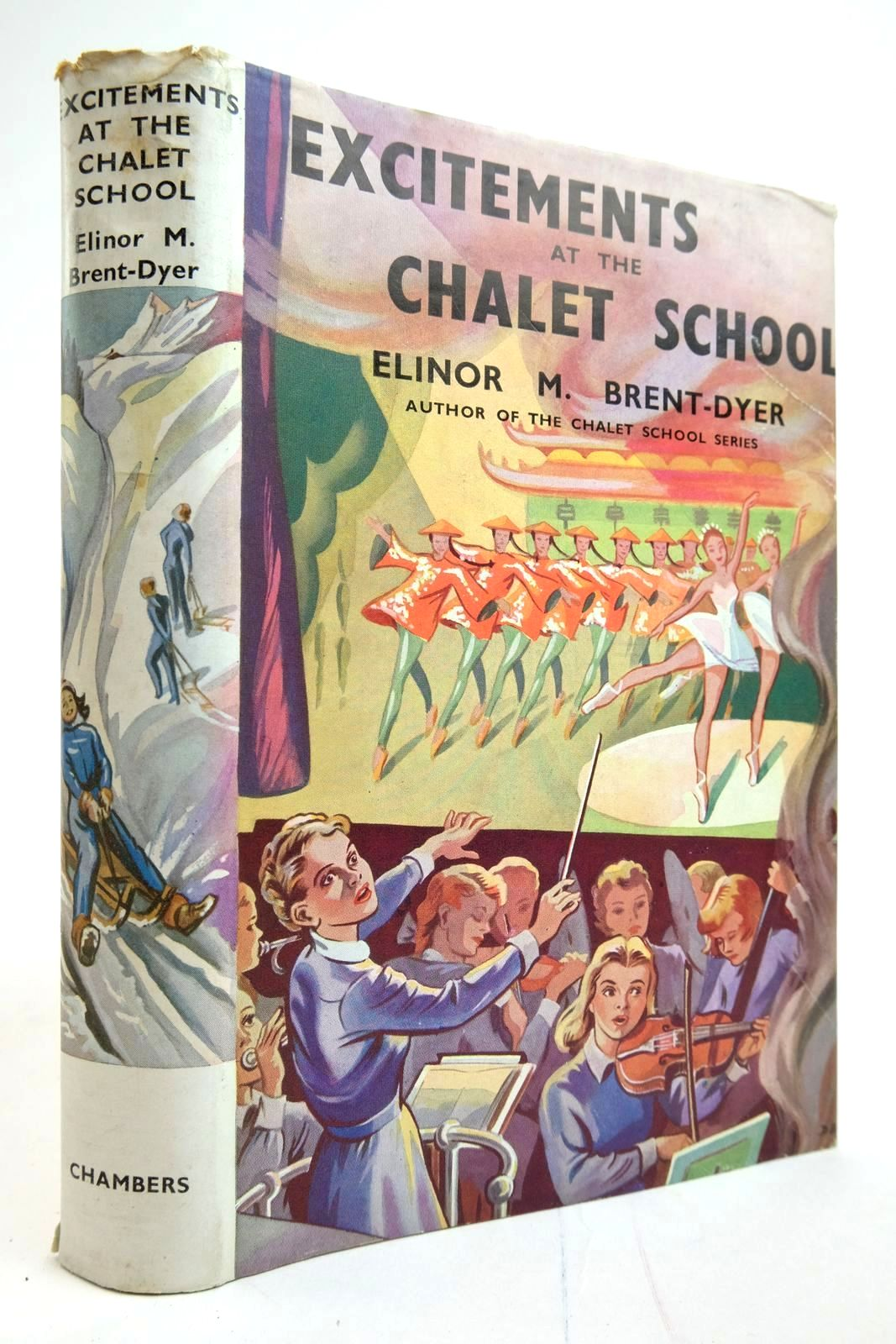 Photo of EXCITEMENTS AT THE CHALET SCHOOL written by Brent-Dyer, Elinor M. illustrated by Brook, D. published by W. & R. Chambers Limited (STOCK CODE: 2135232)  for sale by Stella & Rose's Books