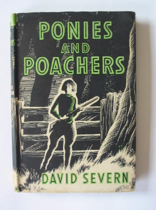 Photo of PONIES AND POACHERS written by Severn, David illustrated by Kiddell-Monroe, Joan published by The Bodley Head (STOCK CODE: 381028)  for sale by Stella & Rose's Books