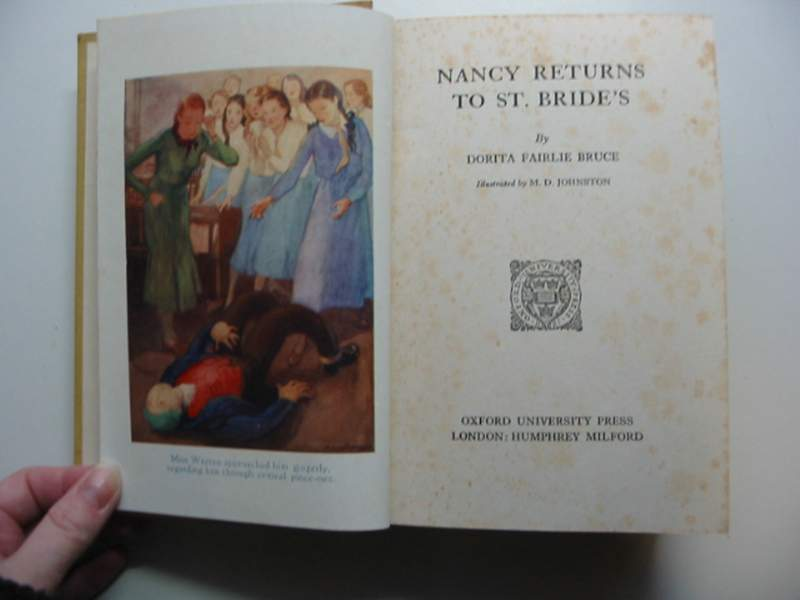 Photo of NANCY RETURNS TO ST. BRIDE'S written by Bruce, Dorita Fairlie illustrated by Johnston, M.D. published by Oxford University Press, Humphrey Milford (STOCK CODE: 446207)  for sale by Stella & Rose's Books