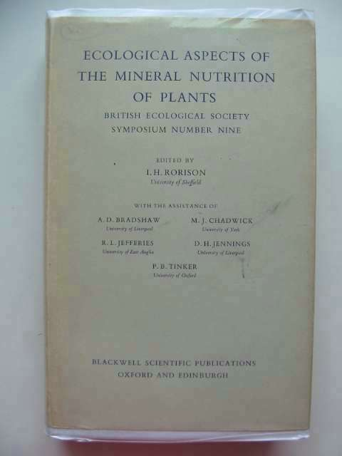 Photo of ECOLOGICAL ASPECTS OF THE MINERAL NUTRITION OF PLANTS written by Rorison, I.H. et al,  published by Blackwell Scientific Publications (STOCK CODE: 553707)  for sale by Stella & Rose's Books