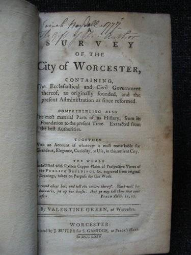 Photo of A SURVEY OF THE CITY OF WORCESTER- Stock Number: 553859