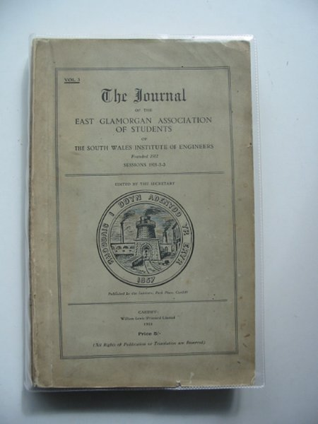 Photo of THE JOURNAL OF THE EAST GLAMORGAN ASSOCIATION OF STUDENTS OF THE SOUTH WALES INSTITUTE OF ENGINEERS VOL 3- Stock Number: 560477