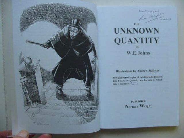 Photo of THE UNKNOWN QUANTITY written by Johns, W.E. illustrated by Skilleter, Andrew published by Norman Wright (STOCK CODE: 561101)  for sale by Stella & Rose's Books