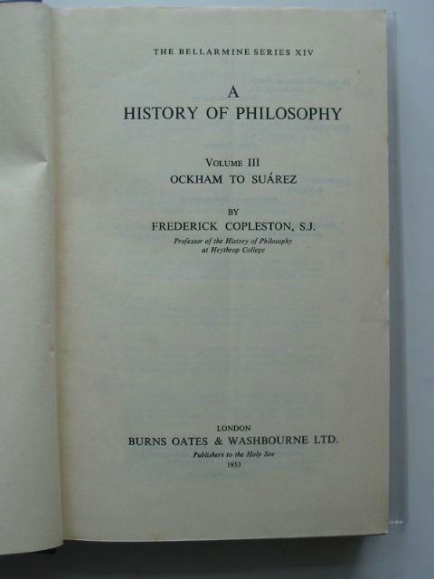 Photo of A HISTORY OF PHILOSOPHY VOLUME III written by Copleston, Frederick published by Burns Oates And Washbourne Ltd. (STOCK CODE: 564485)  for sale by Stella & Rose's Books
