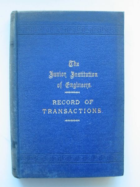 Photo of THE JUNIOR INSTITUTION OF ENGINEERS RECORD OF TRANSACTIONS VOLUME XIII written by Dunn, Walter T. published by Percival Marshall And Co Ltd. (STOCK CODE: 565689)  for sale by Stella & Rose's Books