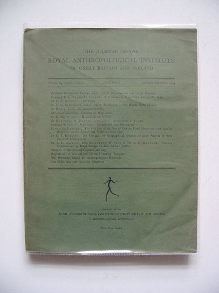 Photo of THE JOURNAL OF THE ROYAL ANTHROPOLOGICAL INSTITUTE VOLUME 84 PARTS I AND II published by The Royal Anthroplogical Institute Of Great Britain And Ireland (STOCK CODE: 567407)  for sale by Stella & Rose's Books