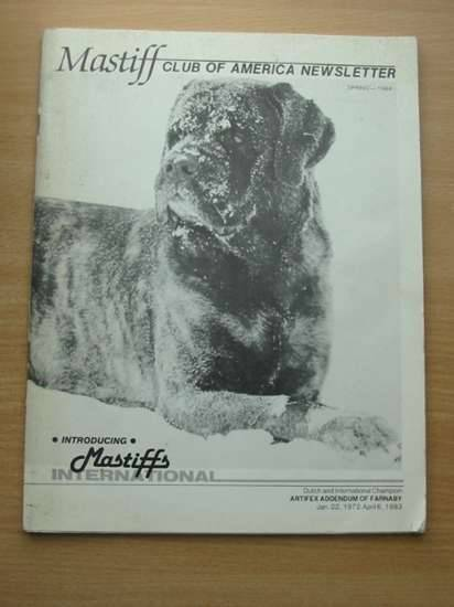 Photo of MASTIFF CLUB OF AMERICA NEWSLETTER published by Mastiff Club Of America (STOCK CODE: 572458)  for sale by Stella & Rose's Books