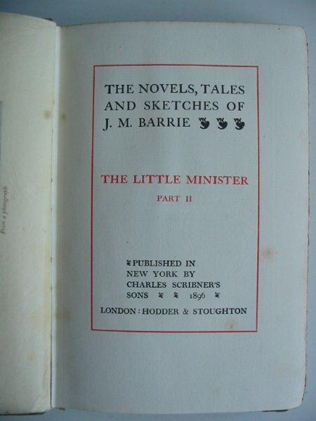 Photo of THE NOVELS, TALES AND SKETCHES OF J.M. BARRIE written by Barrie, J.M. published by Charles Scribner's Sons, Hodder & Stoughton (STOCK CODE: 573011)  for sale by Stella & Rose's Books