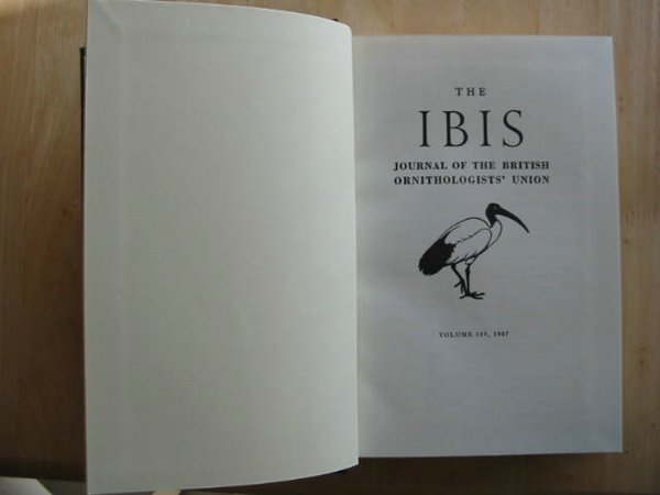 Photo of THE IBIS VOLUME 109 published by British Ornithologists' union (STOCK CODE: 575454)  for sale by Stella & Rose's Books