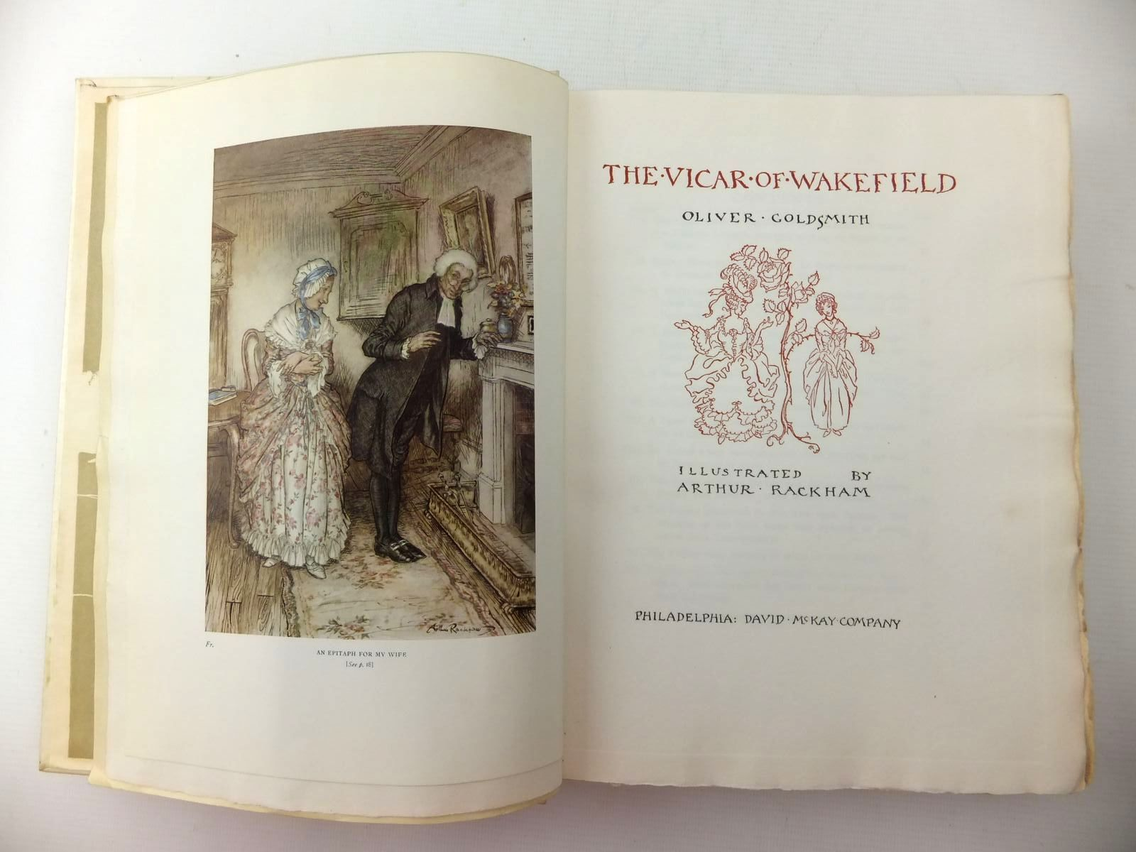 Photo of THE VICAR OF WAKEFIELD written by Goldsmith, Oliver illustrated by Rackham, Arthur published by David McKay Company (STOCK CODE: 576259)  for sale by Stella & Rose's Books