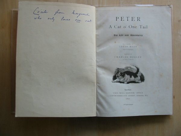 Photo of PETER A CAT O' ONE TAIL AND TEUFEL THE TERRIER written by Morley, Charles illustrated by Wain, Louis Carrington, J. Yates published by Pall Mall Gazette (STOCK CODE: 577477)  for sale by Stella & Rose's Books