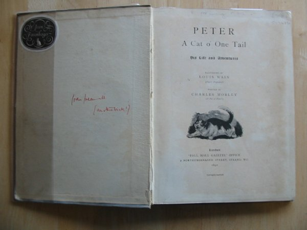 Photo of PETER A CAT O' ONE TAIL written by Morley, Charles illustrated by Wain, Louis published by Pall Mall Gazette (STOCK CODE: 577486)  for sale by Stella & Rose's Books