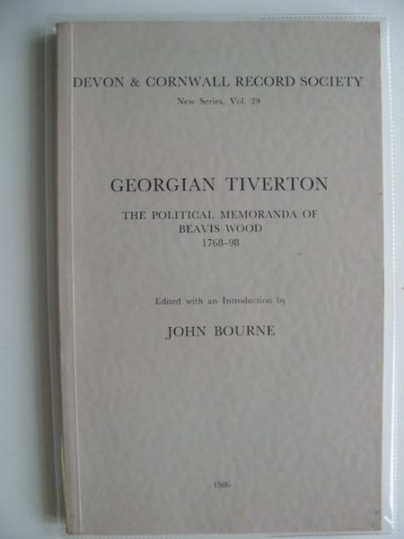 Photo of GEORGIAN TIVERTON written by Bourne, John published by Devon and Cornwall Record Society (STOCK CODE: 578578)  for sale by Stella & Rose's Books