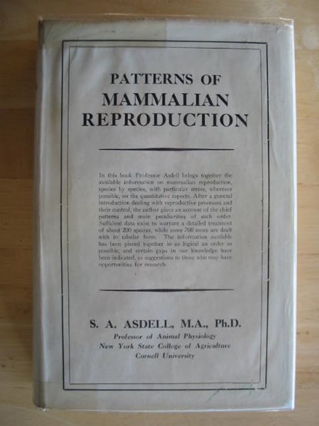 Photo of PATTERNS OF MAMMALIAN REPRODUCTION written by Asdell, S.A. published by Comstock Publishing Company Inc. (STOCK CODE: 581767)  for sale by Stella & Rose's Books