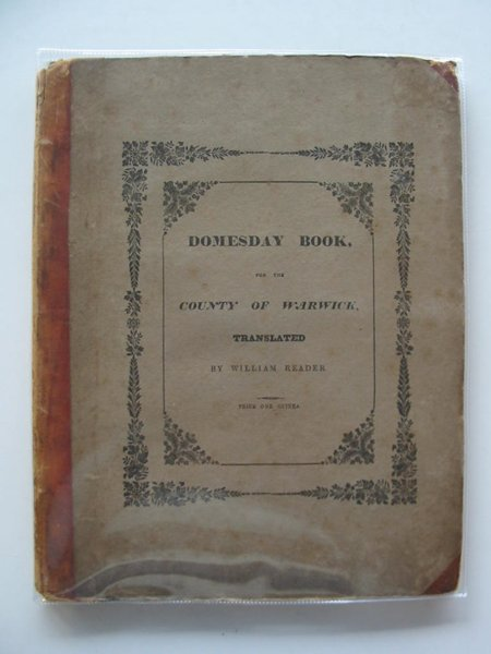 Photo of DOMESDAY BOOK FOR THE COUNTY OF WARWICK- Stock Number: 581994