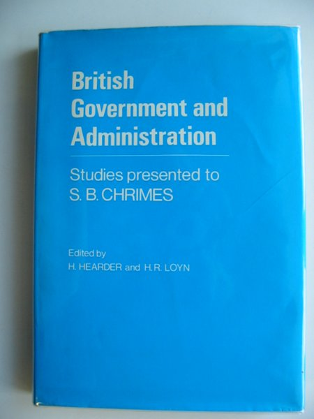 Photo of BRITISH GOVERNMENT AND ADMINISTRATION written by Hearder, H. Loyn, Henry R. published by University of Wales (STOCK CODE: 584071)  for sale by Stella & Rose's Books