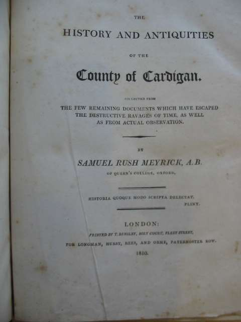Photo of THE HISTORY AND ANTIQUITIES OF THE COUNTY OF CARDIGAN written by Meyrick, Samuel Rush published by Longman, Hurst, Rees And Orme (STOCK CODE: 586304)  for sale by Stella & Rose's Books