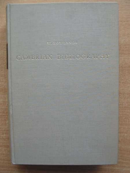 Photo of CAMBRIAN BIBLIOGRAPHY written by Rowlands, William Evans, D. Silvan published by Meridian Publishing Co. (STOCK CODE: 590439)  for sale by Stella & Rose's Books