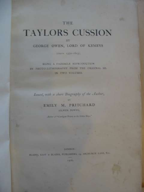 Photo of THE TAYLOR'S CUSSION written by Owen, George