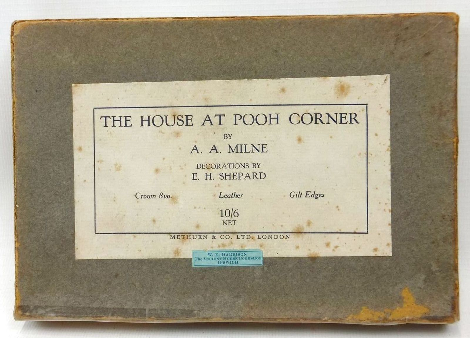 Photo of THE HOUSE AT POOH CORNER written by Milne, A.A. illustrated by Shepard, E.H. published by Methuen & Co. Ltd. (STOCK CODE: 592059)  for sale by Stella & Rose's Books