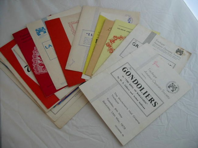 Photo of TREDEGAR THEATRE PROGRAMMES (STOCK CODE: 592827)  for sale by Stella & Rose's Books