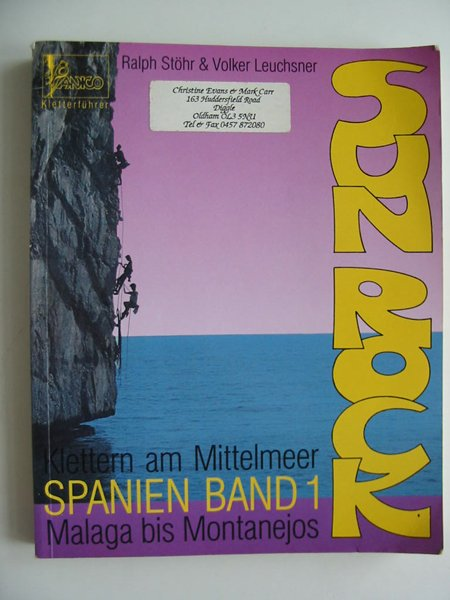 Photo of SUN ROCK SPANIEN BAND 1 written by Stohr, Ralph Leuchsner, Volker published by Panico Alpinverlag (STOCK CODE: 594208)  for sale by Stella & Rose's Books