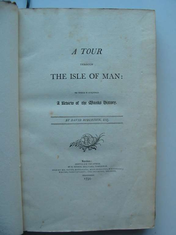Photo of A TOUR THROUGH THE ISLE OF MAN written by Robertson, David published by E. Hodson (STOCK CODE: 594980)  for sale by Stella & Rose's Books