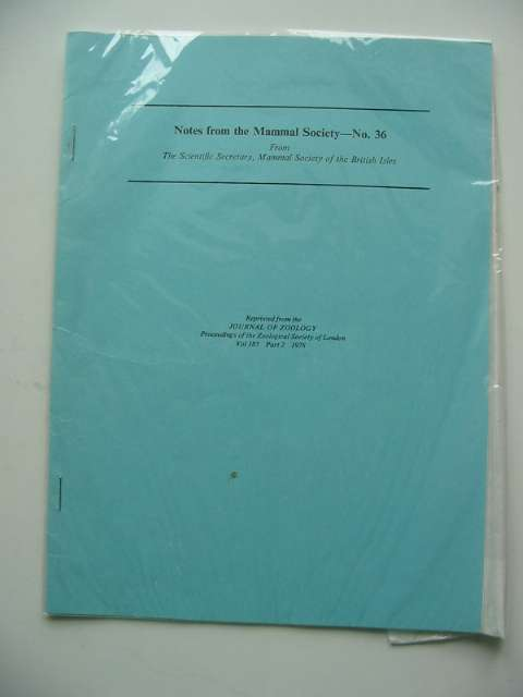 Photo of NOTES FROM THE MAMMAL SOCIETY No. 36- Stock Number: 596174