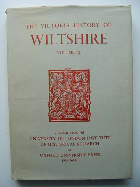 Photo of A HISTORY OF WILTSHIRE VOLUME IX- Stock Number: 598433