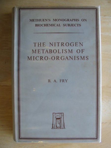 Photo of THE NITROGEN METABOLISM OF MICRO-ORGANISMS- Stock Number: 613853