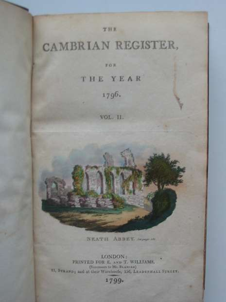 Photo of THE CAMBRIAN REGISTER FOR THE YEAR 1795 & 1796 & 1818(3 VOLUMES) published by E. And T. Williams (STOCK CODE: 627232)  for sale by Stella & Rose's Books