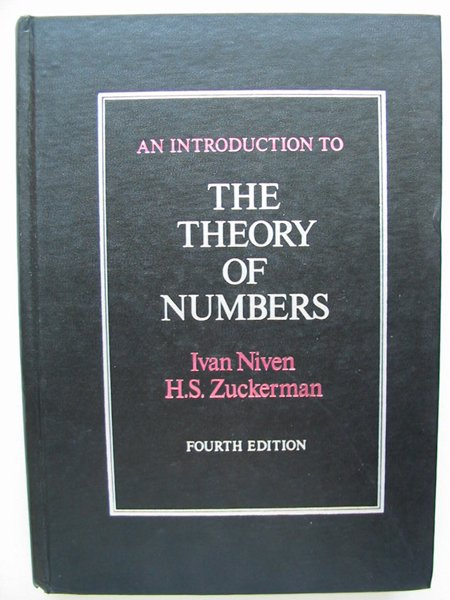 Photo of AN INTRODUCTION TO THE THEORY OF NUMBERS written by Niven, Ivan Zuckerman, Herbert S. published by John Wiley & Sons (STOCK CODE: 627815)  for sale by Stella & Rose's Books