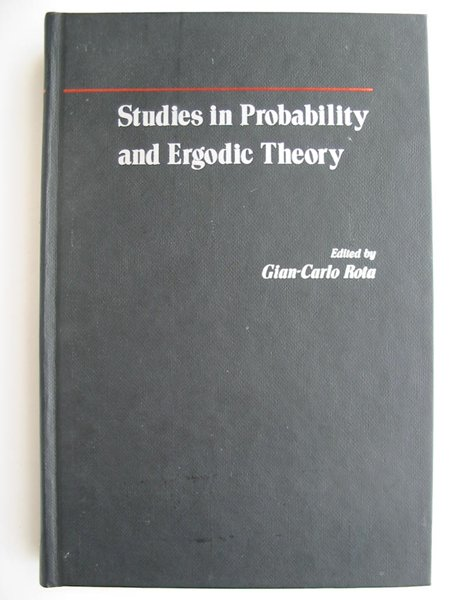 Photo of STUDIES IN PROBABILITY AND ERGODIC THEORY written by Rota, Gian-Carlo published by Academic Press (STOCK CODE: 627828)  for sale by Stella & Rose's Books