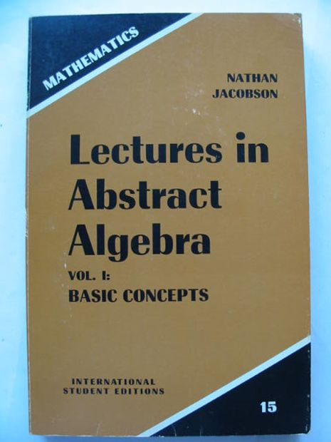 Photo of LECTURES IN ABSTRACT ALGEBRA- Stock Number: 628497