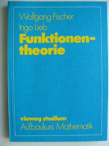 Photo of FUNKTIONENTHEORIE written by Fischer, Wolfgang published by Friedrich Vieweg (STOCK CODE: 628697)  for sale by Stella & Rose's Books