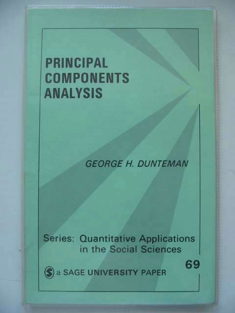 Photo of PRINCIPAL COMPONENTS ANALYSIS written by Dunteman, George H. published by Sage Publications (STOCK CODE: 629711)  for sale by Stella & Rose's Books