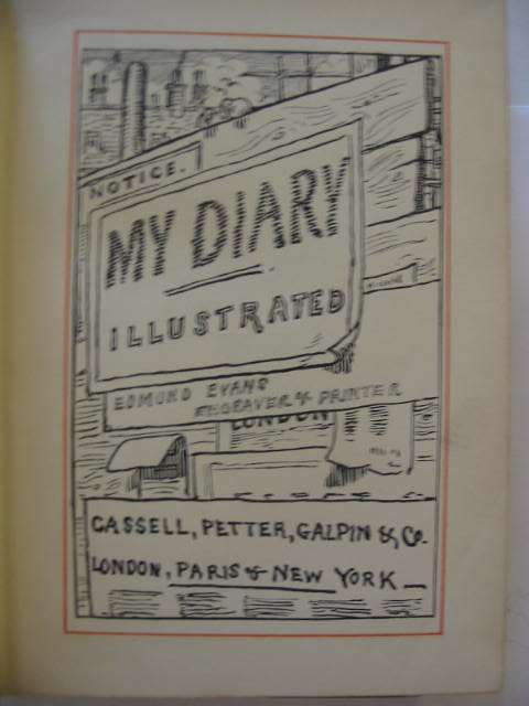 Photo of MY DIARY published by Cassell, Petter, Galpin & Co. (STOCK CODE: 651420)  for sale by Stella & Rose's Books