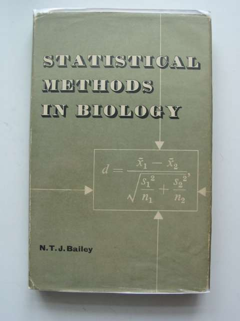 Photo of STATISTICAL METHODS IN BIOLOGY- Stock Number: 664756