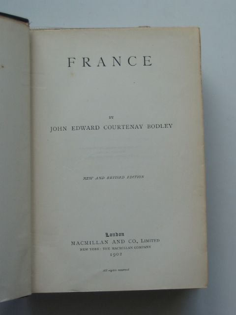 Photo of FRANCE written by Bodley, John Edward Courtenay published by Macmillan & Co. Ltd. (STOCK CODE: 668383)  for sale by Stella & Rose's Books