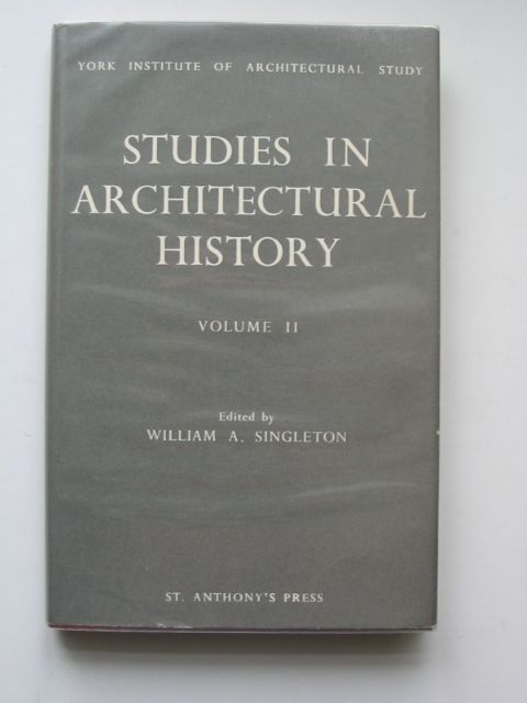 Photo of STUDIES IN ARCHITECTURAL HISTORY VOLUME II written by Singleton, William A. published by St. Anthony's Press (STOCK CODE: 679791)  for sale by Stella & Rose's Books