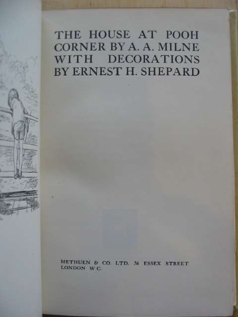Photo of THE HOUSE AT POOH CORNER written by Milne, A.A. illustrated by Shepard, E.H. published by Methuen & Co. Ltd. (STOCK CODE: 682348)  for sale by Stella & Rose's Books