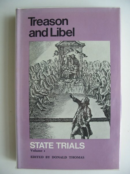Photo of TREASON AND LIBEL STATE TRIALS VOLUME I- Stock Number: 685134