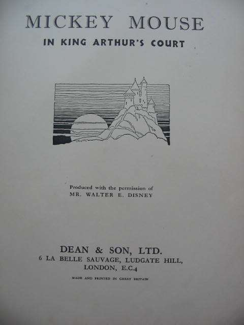 Photo of MICKEY MOUSE IN KING ARTHUR'S COURT written by Disney, Walt illustrated by Disney, Walt published by Dean & Son Ltd. (STOCK CODE: 690042)  for sale by Stella & Rose's Books