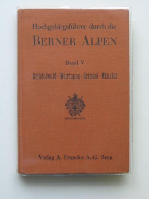Photo of HOCHGEBIRGSFUHRER DURCH DIE BERNER ALPEN BAND V- Stock Number: 692738