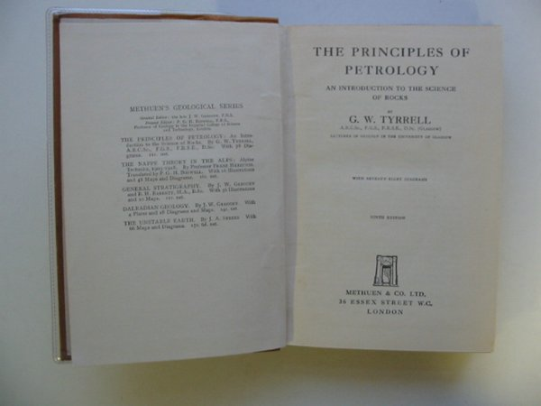 Photo of THE PRINCIPLES OF PETROLOGY written by Tyrrell, G.W. published by Methuen & Co. Ltd. (STOCK CODE: 692765)  for sale by Stella & Rose's Books