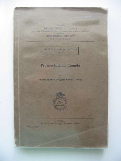 Photo of PROSPECTING IN CANADA published by Canada Department Of Mines (STOCK CODE: 693326)  for sale by Stella & Rose's Books