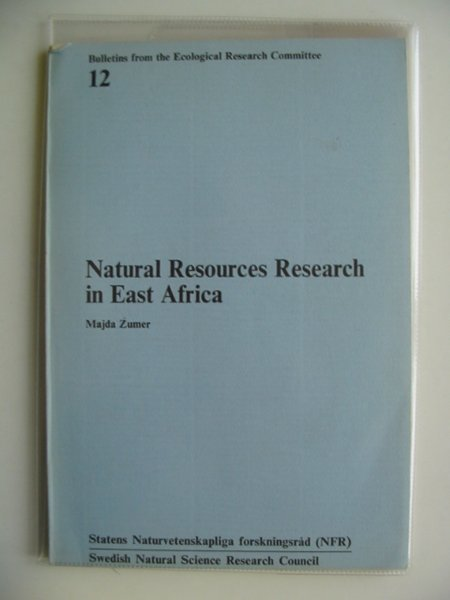 Photo of NATURAL RESOURCES RESEARCH IN EAST AFRICA written by Zumer, Majda published by Swedish Natural Science Research Council (STOCK CODE: 695078)  for sale by Stella & Rose's Books