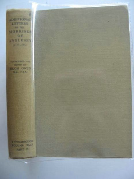 Photo of ADDITIONAL LETTERS OF THE MORRISES OF ANGLESEY (1735-1786) Vol. XLIX Part II- Stock Number: 696181