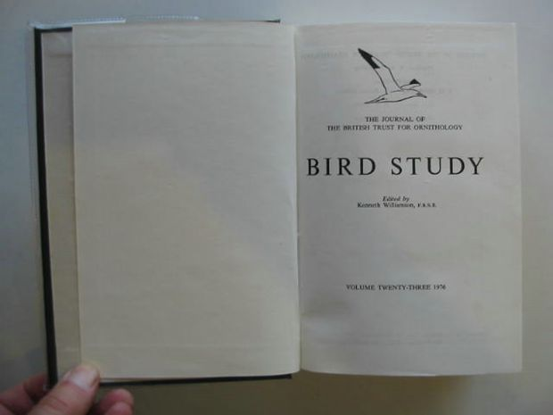 Photo of BIRD STUDY VOLS. 23-24 written by Williamson, Kenneth published by British Trust for Ornithology (STOCK CODE: 696268)  for sale by Stella & Rose's Books